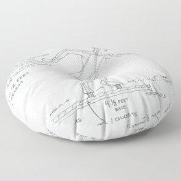Get Set Drawing, Transitions through Triathlon Floor Pillow