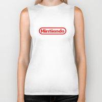 nintendo Biker Tanks featuring Nintendo by Carlos Bellod