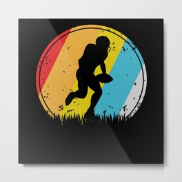 Retro American Football Player Metal Print