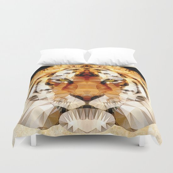 abstract tiger Duvet Cover