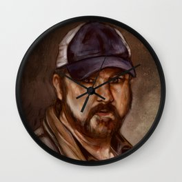 Bobby Singer You Idjits by SachsIllustration Wall Clock