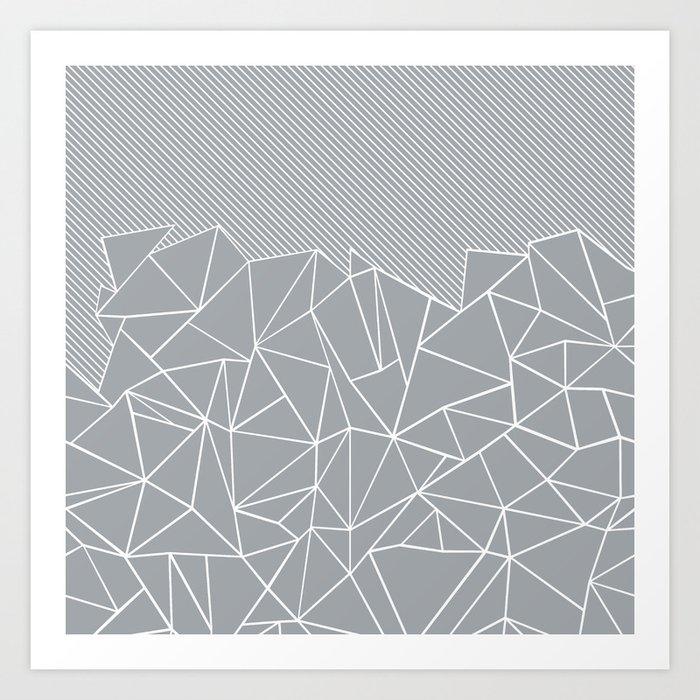 Ab Linear Grey Kunstdrucke