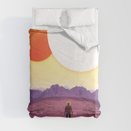 NASA Retro Space Travel Poster #8 Kepler 16b Comforters
