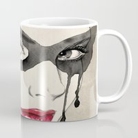 mask Mugs featuring Mask by Vivian Lau