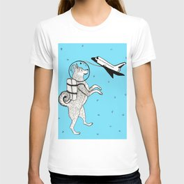 Shiba Inu Astronaut Dog in Space with Space Shuttle T-shirt
