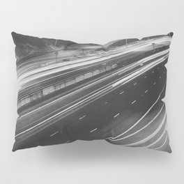 Seattle at Night - Black and White Pillow Sham