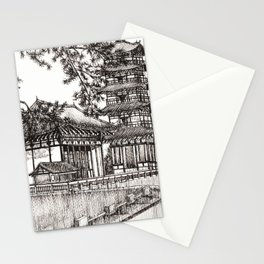 Japan Temple Stationery Cards