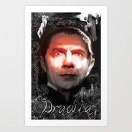 "Dracula Bela Lugosi ""Look Into My Eyes"" Art Print"