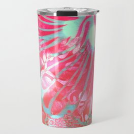 Blue Water Hibiscus Snowfall Travel Mug