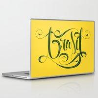 brasil Laptop & iPad Skins featuring BRASIL by Roberlan Borges