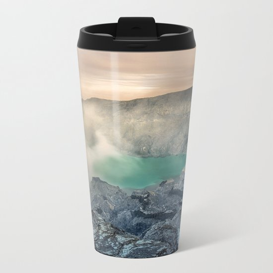 volcano, Indonesia Metal Travel Mug