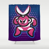 megaman Shower Curtains featuring Cutman by likelikes
