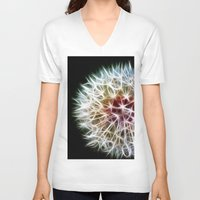 fractal V-neck T-shirts featuring Fractal dandelion by Mark Nelson
