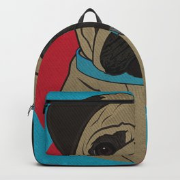 Icons of the Dog Park: Pug Design in Bold Colors for Pet Lovers Backpack