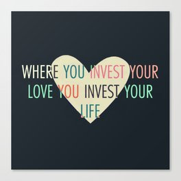 Investment Canvas Print
