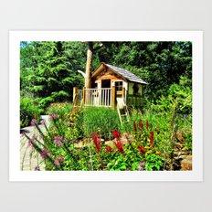 Tree House Art Print