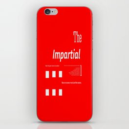 The Impartial II iPhone Skin