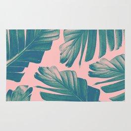 Tropical Blush Banana Leaves Dream #2 #decor #art #society6 Rug