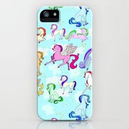 Unicorns repeating pattern iPhone Case