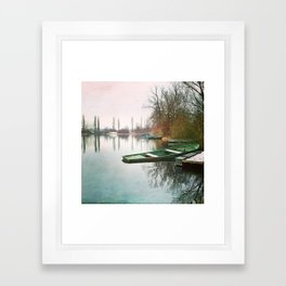 At the lake Framed Art Print
