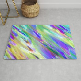 Colorful digital art splashing G401 Rug