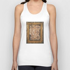 medieval wood painting Unisex Tank Top
