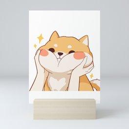 Kawaii Shiba inu Mini Art Print