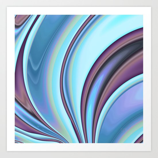 Abstract Fractal Colorways 02PrBl Art Print