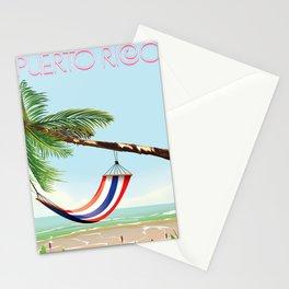 puerto rico hammock beach poster Stationery Cards
