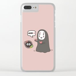 No-Face in Love of SootBall Clear iPhone Case