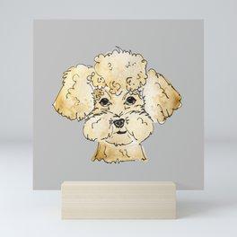 Winston the Poodle Mini Art Print
