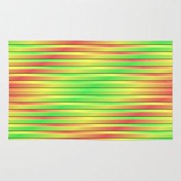Tricolor 3D Slats Rug