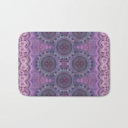 Purple Mandalas Boho Style Bath Mat