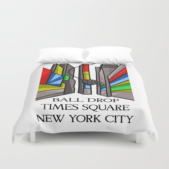 Ball Drop Times Square Duvet Cover