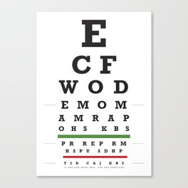 Crossfit chart Canvas Print