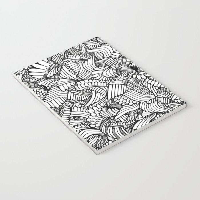 Abstract Fullpage Doodle Notebook