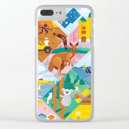 Travel To Australia Clear iPhone Case