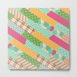 Washi diagonal Metal Print