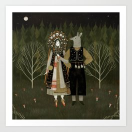 Svatba (the wedding) Art Print