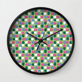 Colorful pills Wall Clock