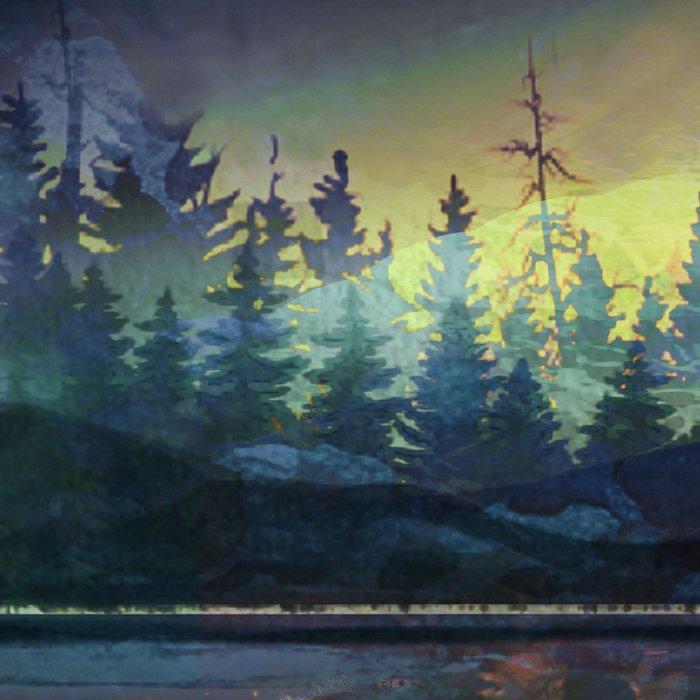 Mountain Lake Under Sunrise Leggings