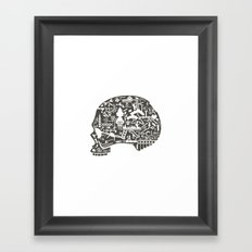 Icon Skull Framed Art Print