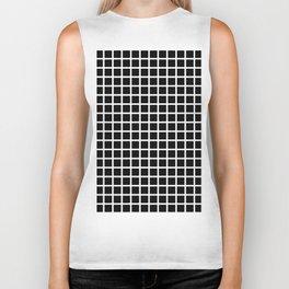 Grid (White & Black Pattern) Biker Tank