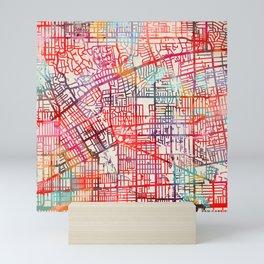 San Gabriel map California CA Mini Art Print