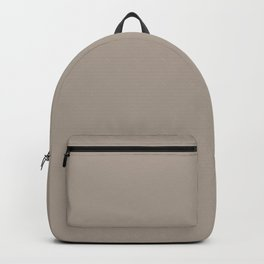 Mid Tone Grey Beige Single Solid Color Accent Shade Matches Sherwin Williams Mega Greige SW 7031 Backpack
