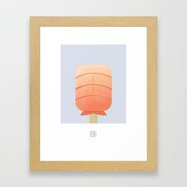 Ebi Flavored Creamsicle Framed Art Print