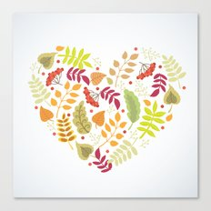Autumn heart Canvas Print