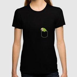 Owl Parrot In Pocket Gift Kakapo Pocket T-Shirt T-shirt
