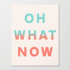 Oh What Now Canvas Print