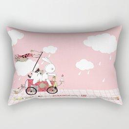 Runs away Rectangular Pillow